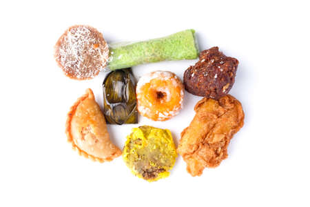 A flatlay picture of famous Nusantara dessert or bitesized snack called