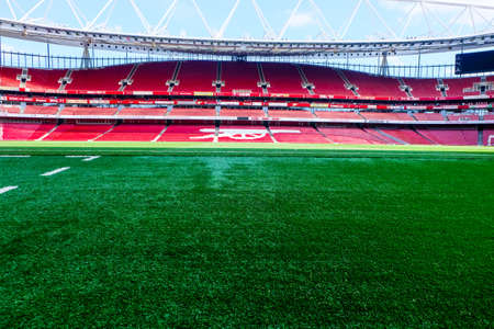 A picture of Emirates Stadium during tour in the afternoon before Covid-19. Emirates Stadium is home of Arsenal Football Club.