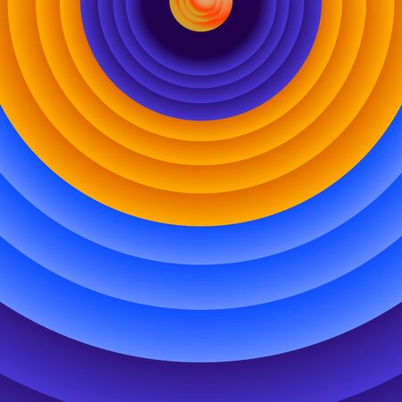 Fondo abstracto con anillos de colores