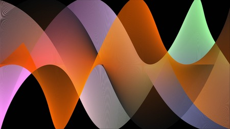 Illustration of colorful Sinecraft, multicolor Sine Waves Texture Background