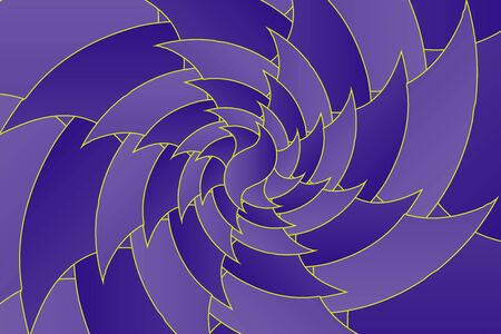 Fractal illustration for meditation and decoration wallpaper. Spiral background design for textile, wallpaper and interior decorations. Infinite geometry fractal background of spiral jigsaw puzzle. Banco de Imagens - 128749358