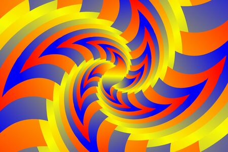 Fractal illustration for meditation and decoration wallpaper. Spiral background design for textile, wallpaper and interior decorations. Infinite geometry fractal background of spiral jigsaw puzzle. Banco de Imagens - 128749709