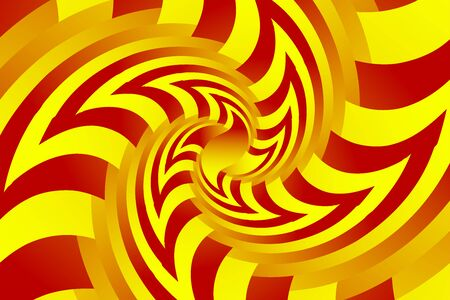 Fractal illustration for meditation and decoration wallpaper. Spiral background design for textile, wallpaper and interior decorations. Infinite geometry fractal background of spiral jigsaw puzzle. Banco de Imagens - 130026823