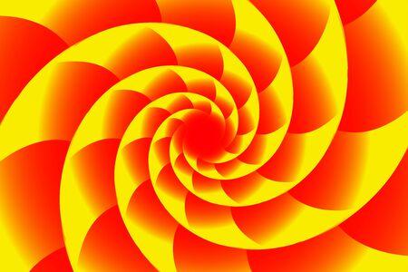 Fractal illustration for meditation and decoration wallpaper. Spiral background design for textile, wallpaper and interior decorations. Infinite geometry fractal background of spiral jigsaw puzzle.