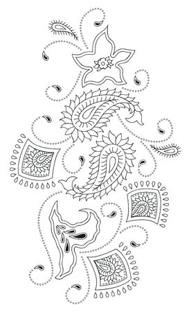 kashmir: Paisley design kashmir Illustration