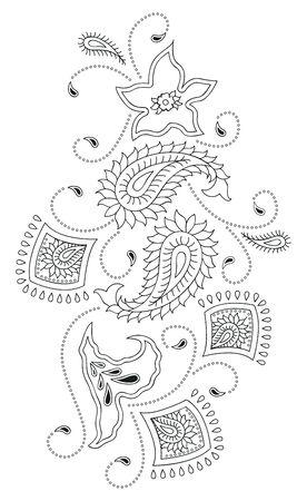 Paisley design kashmir Illustration