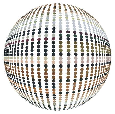 refracting: Refracting spheres Vector  Illustration