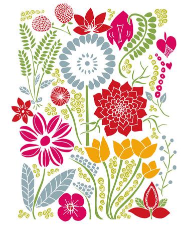 natura: Floral Design Vector Background Natura Summer Spring Illustration