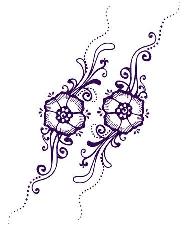 Floral Design Floral Paisley Henna Mehndi Art Royalty Free Cliparts