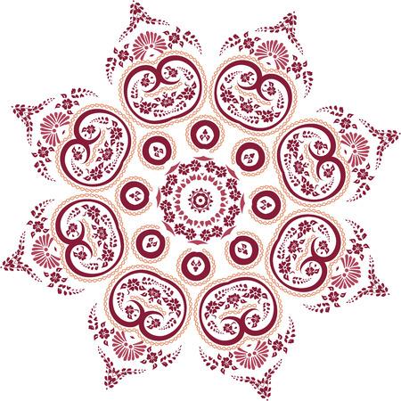 decorum: Mandala ethnic indian illustration design Illustration