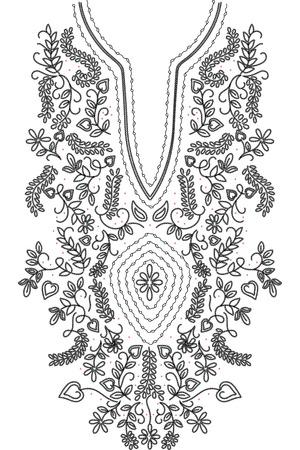 Illustration décolleté design de mode vectoriel