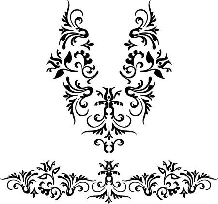 illustration: Neckline illustration vector design fashion