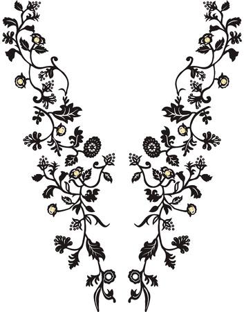 Escote ilustración vectorial de diseño de moda Ilustración de vector