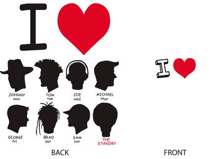 fashion design: Abstract fashion love shirt design Illustration