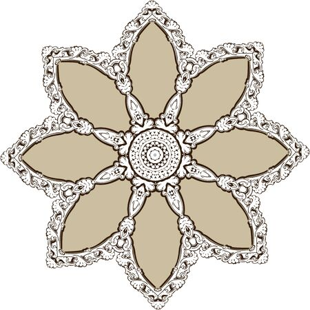 mendie: Mandala ethnic indian illustration design Illustration