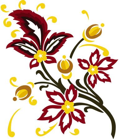 Embroidery traditional vector illustration design Illustration
