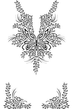Illustration décolleté design de mode vectoriel Vecteurs