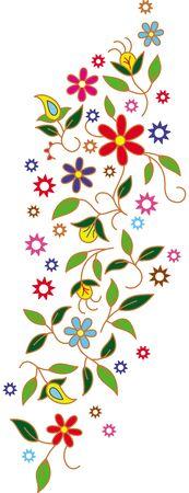 decorum: Paisley mehndi vector floral design