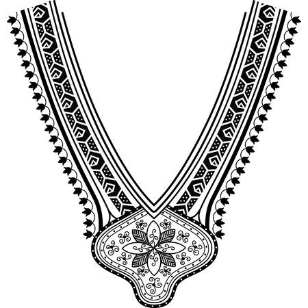 Escote ilustración vectorial de diseño de moda