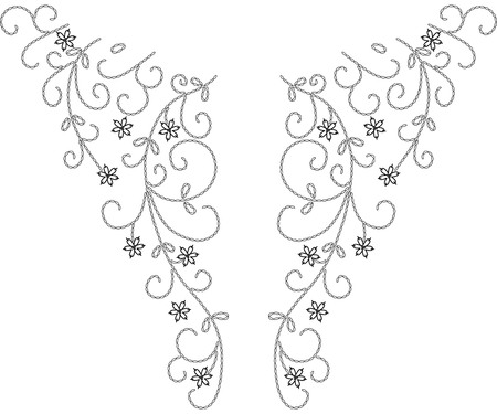 Neckline illustration vector design fashion
