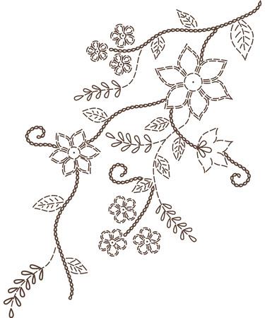 romantic: Branches design decorative romantic  Illustration