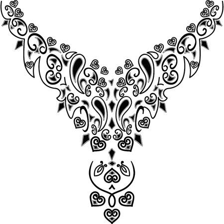 Hals illustratie vector ontwerp mode