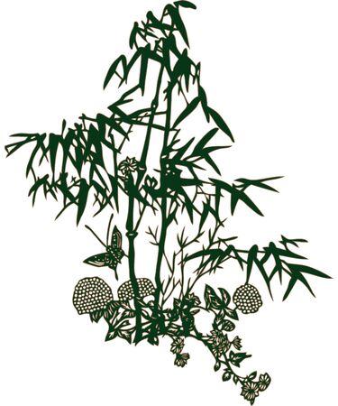 crocket: Leaf design nature vector flower Illustration