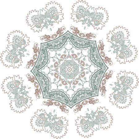 Mandala ethnic indian illustration design  イラスト・ベクター素材
