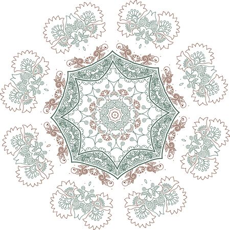 Mandala ethnic indian illustration design 矢量图像