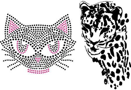 Cat cute tiger illustration art design Vetores