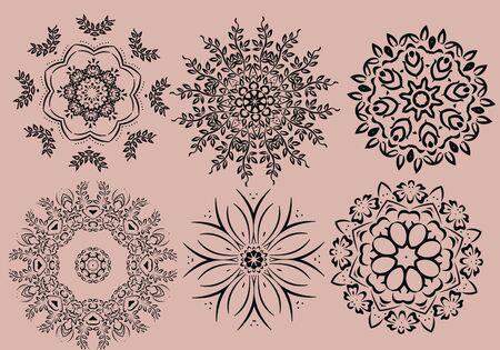 mendie: Mandala ethnic indian illustration design Illustration
