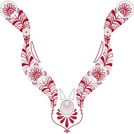 fashion design: Neckline illustration vector design fashion