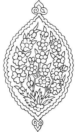 mhendi: Paisley mehndi vector floral design