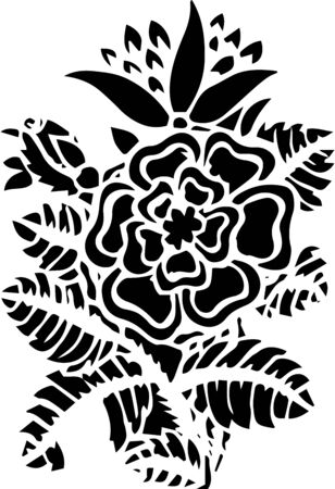 indian traditional: Paisley mehndi vector floral design
