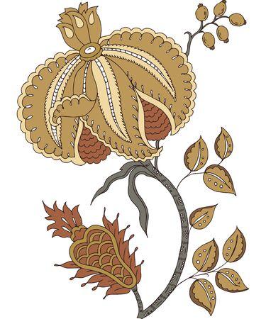 decorum: Floral design motif abstract decor