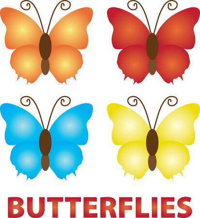 Butterfly set Illustration