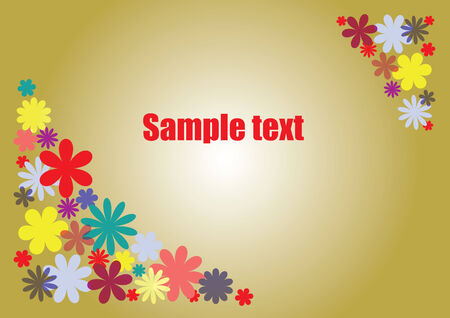 Horizontal summer floral background with place for text Illustration