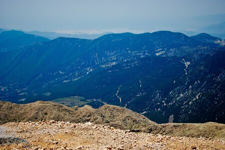View from Tahtali mountain near town Kemer, Turkey