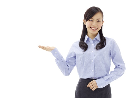 Woman introducing something Stock Photo - 11677098