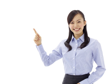 Woman introducing something Stock Photo - 11677071