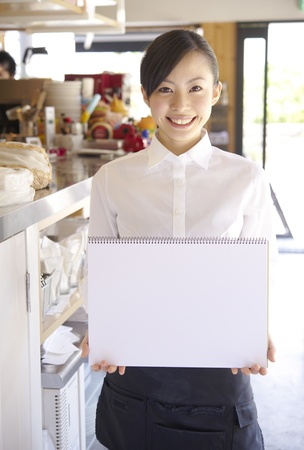 waitresses: Service woman with a smile