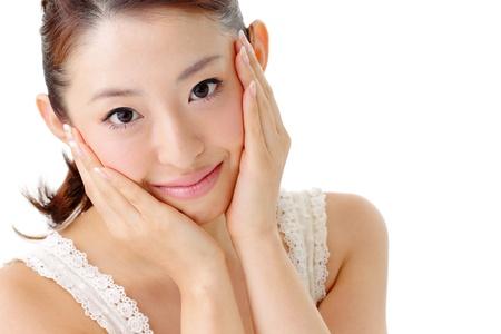 clear skin: Asian beautiful Girl