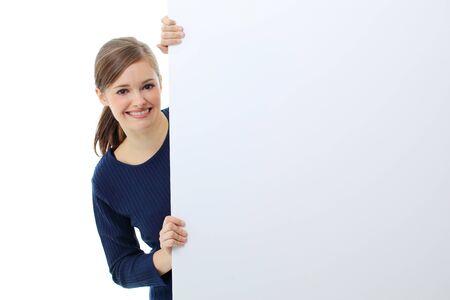 Woman billboard sign