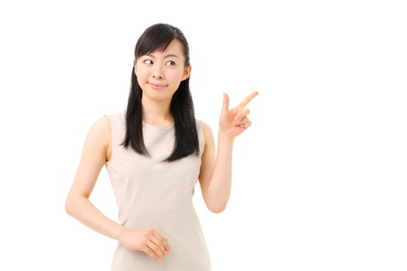 asian teacher: young girl introducing something