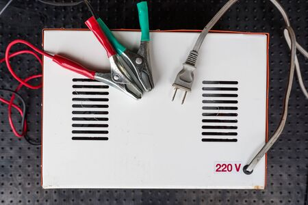 volts: backside of Electric isolation transformer 12 and 24 volts for car battery