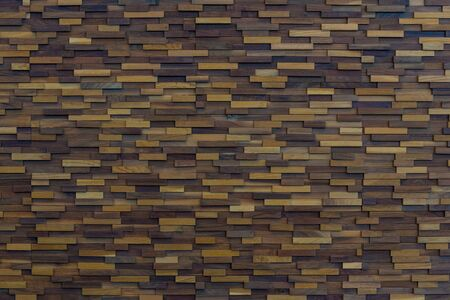 original ecological: background of wooden blocks stacked as wall