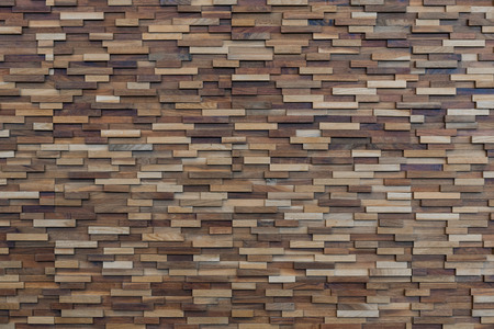original ecological: Wooden rectangular blocks- wooden wall- pieces of wooden blocks-wooden texture Stock Photo