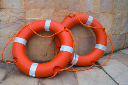 life saving: lifebuoy - life saving equipment