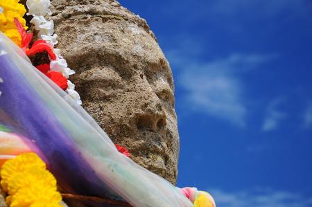 Close up Buddhist statue, Thailand