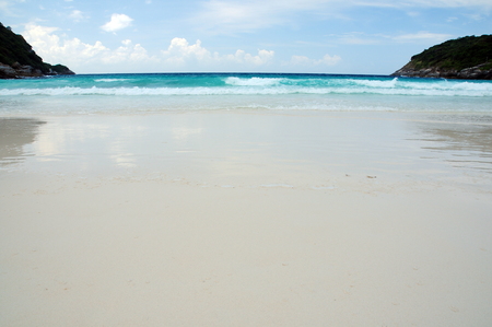 Cleaned Beach and Blue Sea
